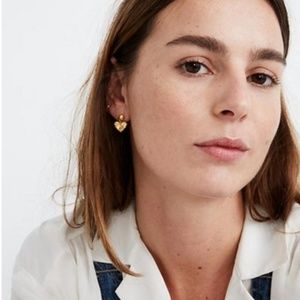 2 For 38⚡️Madewell Carved Heart Drop Stud Earrings